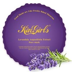 Kin Girls Macarons Lavender Face Mask Przeciwzapalna maseczka w płachcie 20ml