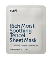 Klairs Rich Moist Soothing Tencel Sheet Mask - Intensywnie nawilżająca maska w płachcie 25 ml