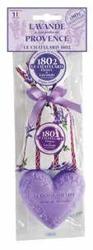 Lavende de Provence Zestaw woreczek 18g + serce LAWENDA 100g
