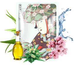 MITOMO maska UKIYO-E Aloes+Kwiat Wiśni 25g