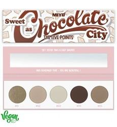MIYO FIVE POINTS Palette Paleta 5 cieni do powiek 27 Sweet As Chocolate City 6,5g
