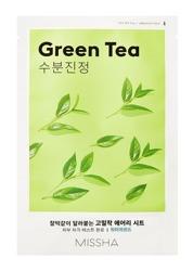 Missha AIRY Fit Sheet Mask Green Tea Nawilżająca maska w płachcie Zielona herbata 19g