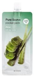 Missha Pure Source Pocket Pack ALOE Nawilżająca maseczka na noc 10ml