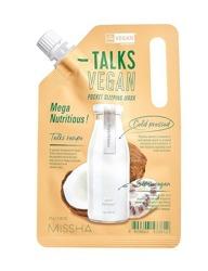 Missha Talks Vegan Squeeze Pocket Sleeping Mask Mega Nutritious Całonocna nawilżająco-odżywcza maska do twarzy 10g