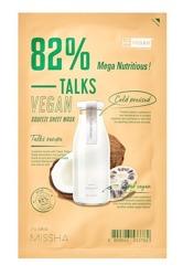 Missha Talks Vegan sheet mask Mega Nutritious Nawilżająco-odżywcza maska w płachcie 27g