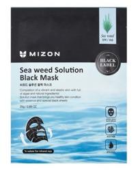 Mizon Black Mask Sea weed Solution Nawilżająca czarna maska w płacie 25g