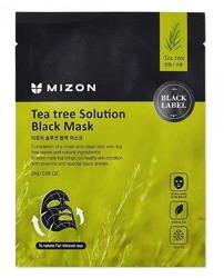 Mizon Black Mask Tea Tree Solution Czarna maska w płacie 25g