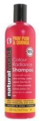 Natural World Paw Paw & Quinoa Shampoo Szampon do pielęgnacji włosów farbowanych 500ml