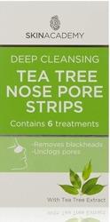 Pretty Deep Cleansing Tea Tree Nose Strips - Płatki oczyszczające nos z zieloną herbatą, 6 sztuk