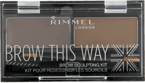 Rimmel Brow This Way Paleta do brwi 002 Medium