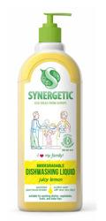 SYNERGETIC Dishwasher Liquid Family Juicy Lemon Biodegradowalny żel do mycia naczyń Soczysta cytryna 1L
