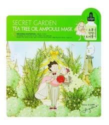 Sallys Box Secret Garden Tea Tree Oil Ampoule Mask Dwustopniowa nawilżająca maska w płachcie
