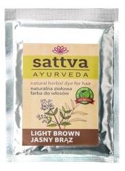 Sattva Naturalna ziołowa henna do włosów Light Brown 10g