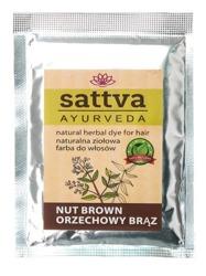 Sattva Naturalna ziołowa henna do włosów Nut Brown 10g