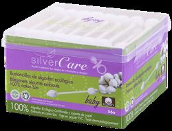 Silver Care Patyczki higieniczne do uszu dla niemowląt i dzieci – 100% bawełny organicznej 56szt