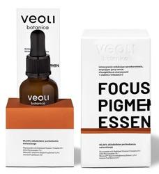 VEOLI LINIA PROFESJONALNA FOCUS PIGMENTATION ESSENCE intensywnie redukujące przebarwienia, zwężające pory serum z kompleksem niacynamid + stabilna witamina C 30ml