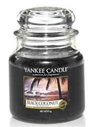 Yankee Candle Słoik średni Black Coconut 411g