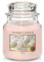 Yankee Candle Świeca zapachowa Słoik średni Rainbow Cookie 411g