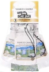 Yankee Candle car jar Odświeżacz samochodowy Clean Cotton 3szt.