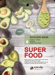 eyeNlip Beauty SuperFood Avocado Maska w płachcie o działaniu odświeżającym, łagodzącym i przywracającym witalność 23ml