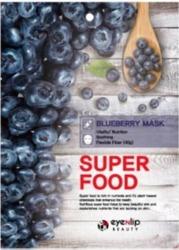 eyeNlip Beauty SuperFood Blueberry Maska w płachcie o działaniu odżywiającym, wygładzającym i przywracającym witalność 23ml