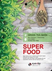 eyeNlip Beauty SuperFood Green Tea Maska w płachcie o działaniu ochronnym, nawilżającym i łagodzącym 23ml
