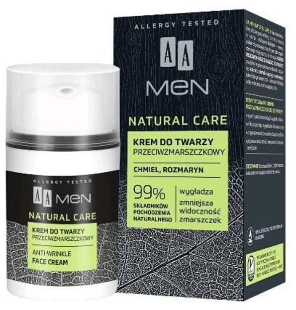 AA MEN Natural Care krem do twarzy dla mężczyzn przeciwzmarszczkowy 50ml