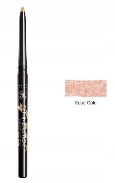 AVON Glimmerstick eyeliner Metaliczna kredka do oczu Rose Gold