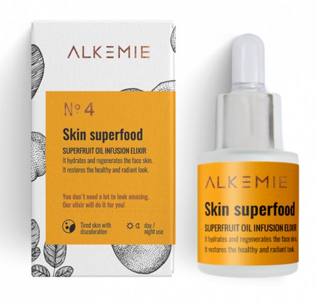 Alkemie Skin superfood Multiwitaminowy olejek z superowocami 15ml