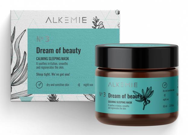 Alkmie Dream of beauty Wyciszająca nocna maska-krem 60ml