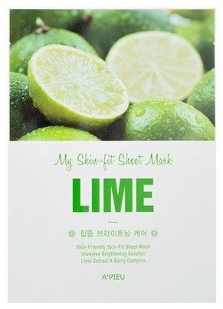 A'pieu My Skin Fit Sheet Mask Regenerująca maseczka w płachcie LIME