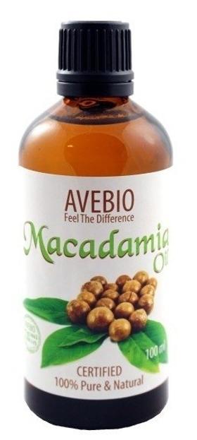 Avebio Macadamia Oil 100% - Olej macadamia 100% naturalny 100ml