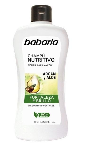 BABARIA Szampon odżywczy z aloesem i olejkiem arganowym 400ml