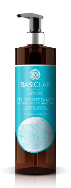 BasicLab Żel oczyszczający do skóry suchej i wrażliwej 300ml