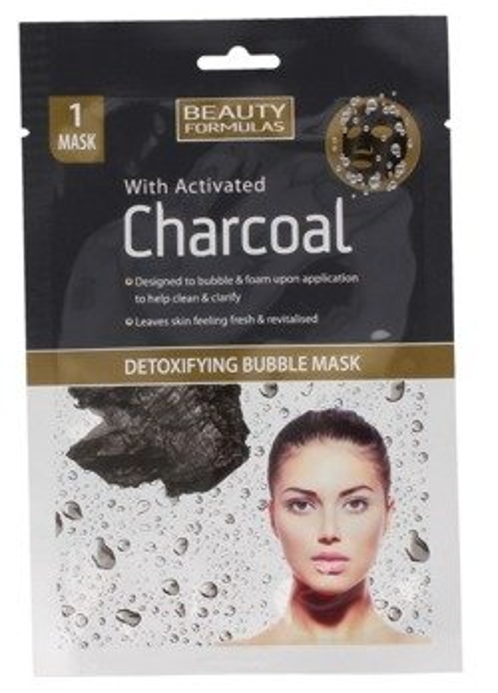Beauty Formulas Charcoal Detoksykująca maseczka bąbelkowa z aktywnym węglem