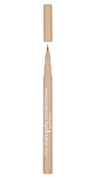 BeautyUK High Definition Eyebrow liner - Flamaster do brwi 1 Ash brown