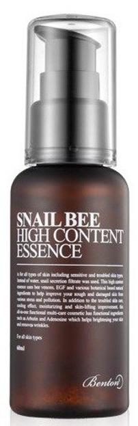 Benton Snail Bee High Content Essence - Ultra nawilżająca emulsja do twarzy z wysoką zawartością śluzu ślimaka 60ml