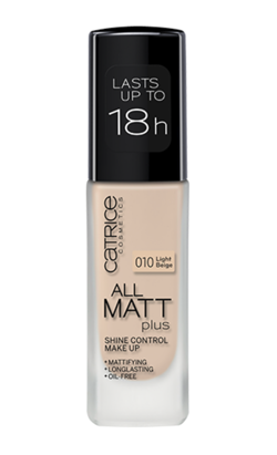 Catrice All Matt Plus Shine Control Make Up -  Podkład matujący 010 Light Beige, 30 ml