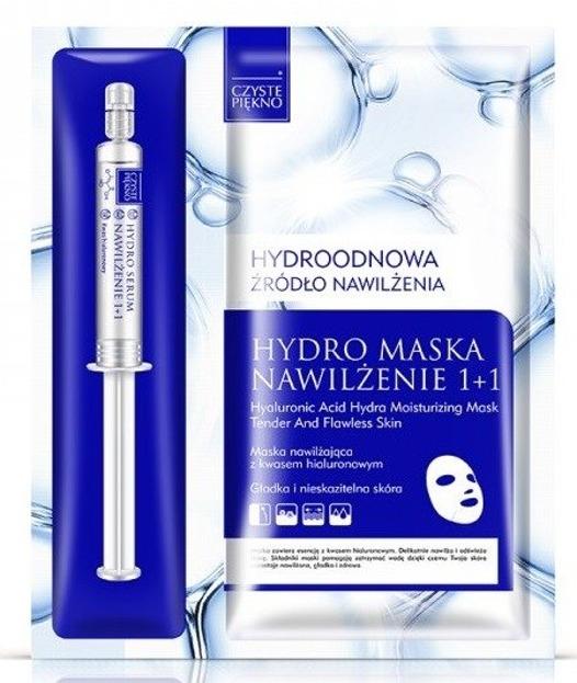 Czyste Piękno Hydro maska Nawilżenie Maska+serum 5ml