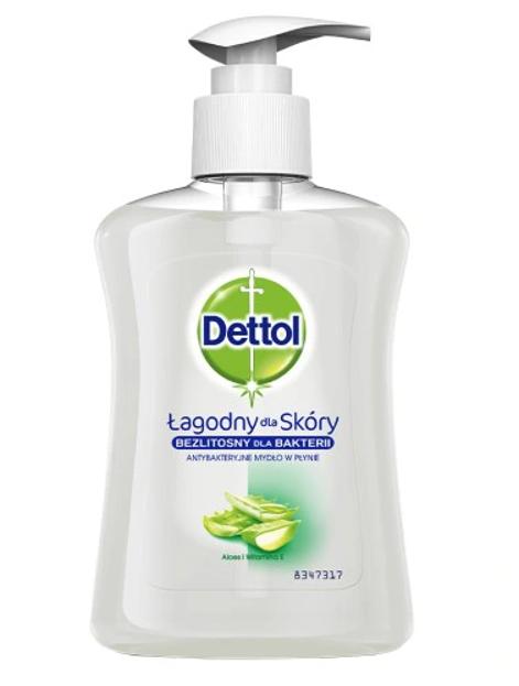 DETTOL Antybakteryjne mydło w płynie Aloes + witamina E 250ml