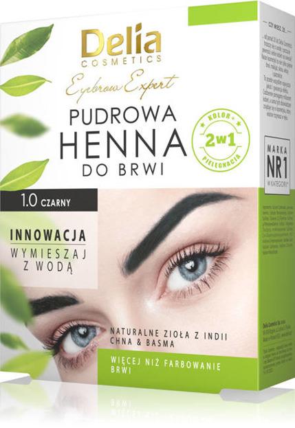 Delia Henna pudrowa do brwi 1.0 czarny