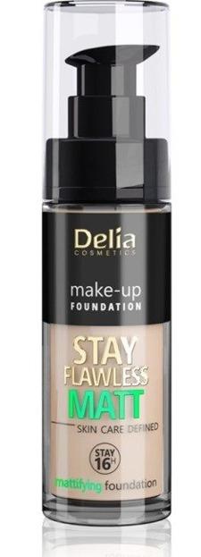 Delia STAY FLAWLESS MATT SKIN DEFINED 16H Podkład matujący 405 30ml