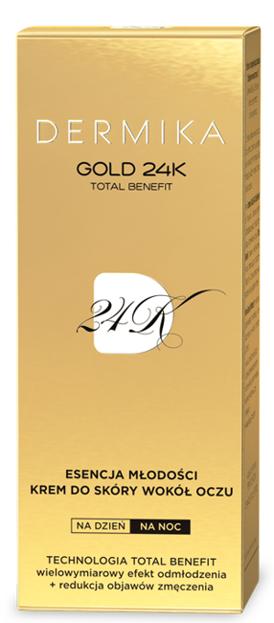 Dermika Gold 24K Esencja Młodości Krem pod oczy 15ml