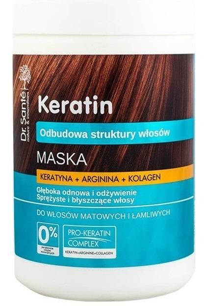 Dr. Sante Maska z keratyną, argininą, kolagenem do włosów matowych i łamliwych 1000ml