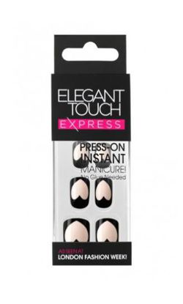 Elegant Touch Express Press – On Instant Manicure - Sztuczne paznokcie samoprzylepne Empty Hearts, 24 sztuki