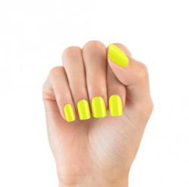 Elegant Touch Express Press – On Instant Manicure - Sztuczne paznokcie samoprzylepne Neon Yellow, 24 sztuki