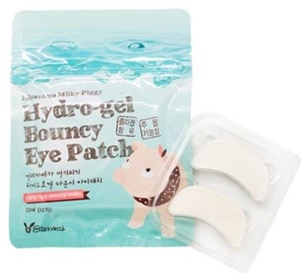 Elizavecca Milky Piggy Pure Hydro Gel Bouncy Eye Płatki pod oczy z kolagenem