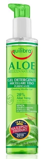 Equilibra Aloesowy oczyszczający żel micelarny do twarzy 200ml