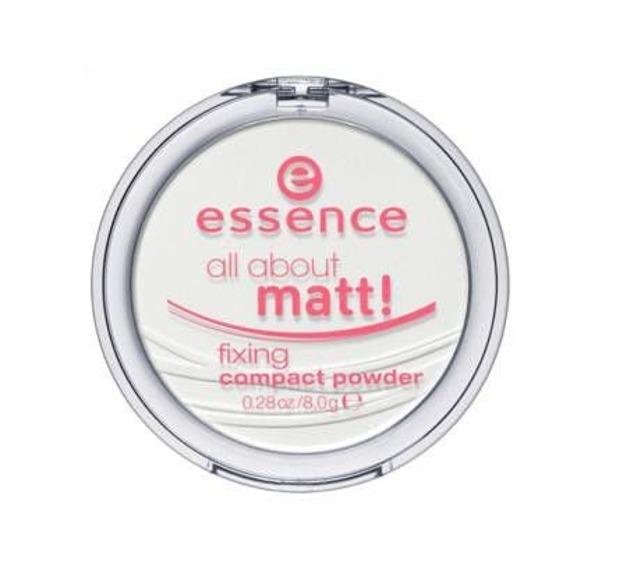 Essence All About Matt Fixing Compact Powder - Prasowany puder matująco – utrwalający Transparentny, 8 g
