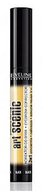 Eveline Art Scenic Korektor do brwi- czarny, 10 ml